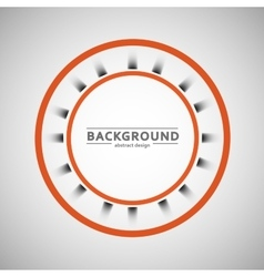 Two colored circle on a gray background vector