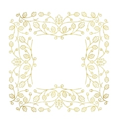 Gold Autumn Frame vector image