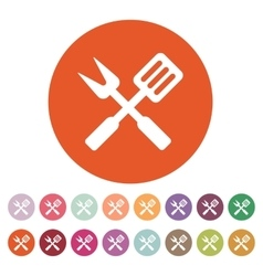 The bbq icon barbecue and kitchen cook symbol vector