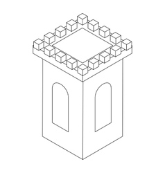 Castle tower icon isometric 3d vector