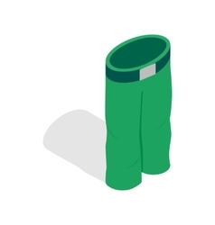Green ski trousers icon isometric 3d style vector