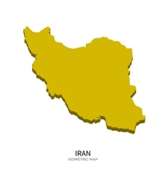 Isometric map of iran detailed vector