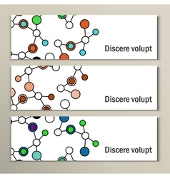 Abstract geometric lattice set of dna molecules vector