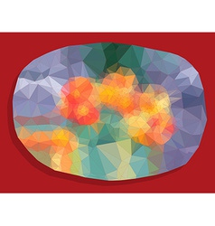 Abstract vivid color polygonal background vector image vector image