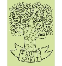 Biblical from the new testament fruit vector