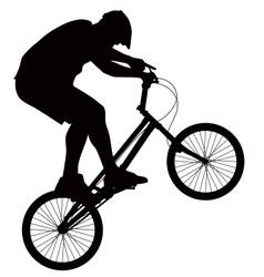 Biker silhouette vector image vector image