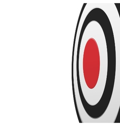 Black round target with red center isolated vector