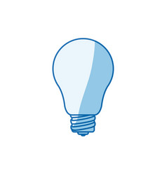Blue color shading silhouette light bulb icon vector