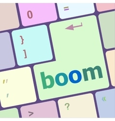 Boom button on computer pc keyboard key vector