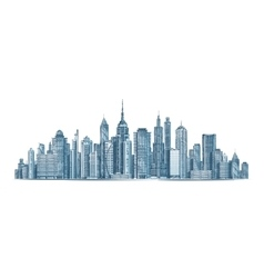 City skyline isolated on vector image