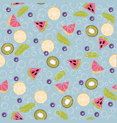 Detox water of fresh fruit seamless pattern vector
