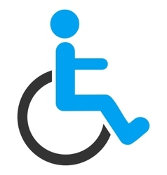 Disabled Person Flat Icon vector image