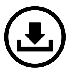 Download flat black color rounded icon vector