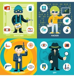 Espionage and criminal activity graphics vector