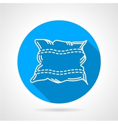 Flat round icon for pillow vector image