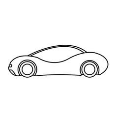 Futuristic car vehicle smart autonomous side view vector