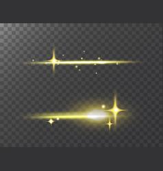 glowing lights effect stars effect glow vector image vector image