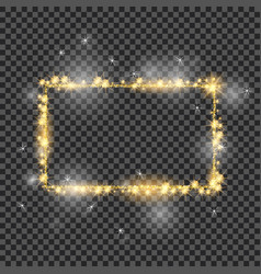 golden frame with lights effects good for vector image vector image