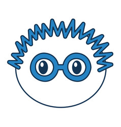 Head boy with glasses expression vector