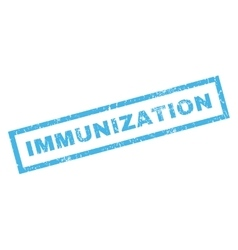 Immunization rubber stamp vector
