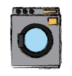 laundry washer machine vector image vector image