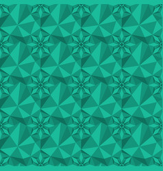 Low poly teal gem-like seamless background vector