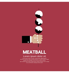 Meatball in skewer vector
