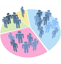 People statistics population data pie chart vector