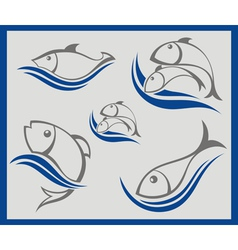 Signs with fish vector image