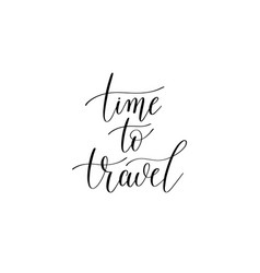 time to travel black and white hand written vector image