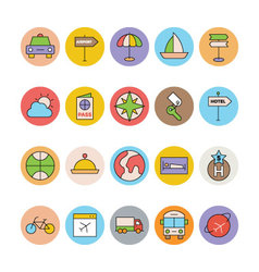 Travel Colored Icons 7 vector image vector image