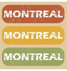 Vintage montreal stamp set vector
