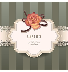 vintage rose lace vector image vector image