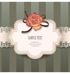 Vintage rose lace vector