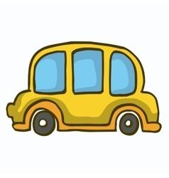 Yellow car cute vector