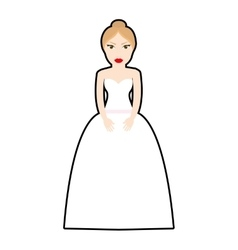 Woman dress girl female person icon vector