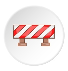 Traffic barrier icon cartoon style vector