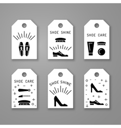 Shoe care elements vector
