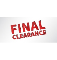 Banner final clearance vector