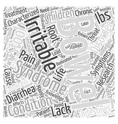 Irritable bowel syndrome in children word cloud vector