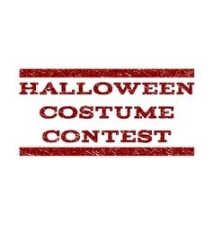 Halloween costume contest watermark stamp vector