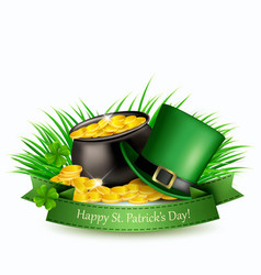 Saint patricks day background with a green hat vector