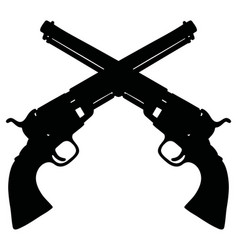Two classic american handguns vector