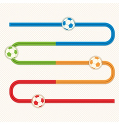Football button s bend slider vector