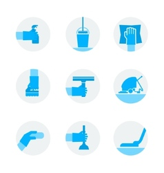 Icons set cleaning vector