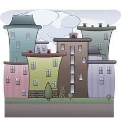 Colorful town vector