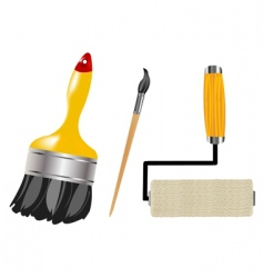 Tools for paint and drawing vector