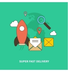 Concept of super fast delivery vector