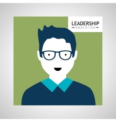 Leadership business entrepreneur design vector