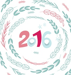 Happy New 2016 year poster template vector image